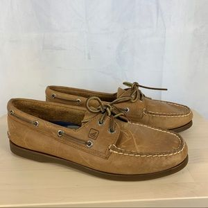 SPERRY TOP SIDER brown leather boat shoe SZ 11